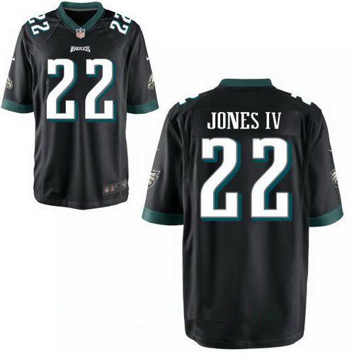 Men's Philadelphia Eagles #22 Sidney Jones IV Black Alternate Stitched NFL Nike Game Jersey