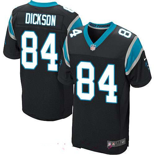 Men's Carolina Panthers #84 Ed Dickson Black Team Color Stitched NFL Nike Elite Jersey