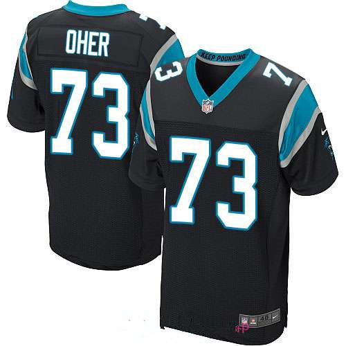 Men's Carolina Panthers #73 Michael Oher Black Team Color Stitched NFL Nike Elite Jersey