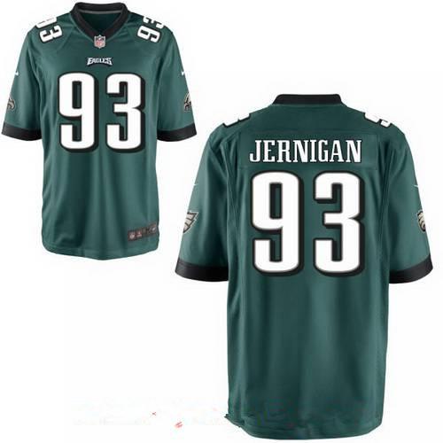 Men's Philadelphia Eagles #93 Timmy Jernigan Midnight Green Team Color Stitched NFL Nike Elite Jersey