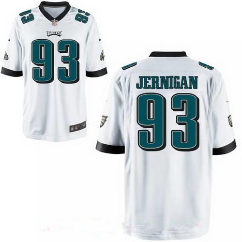 Men's Philadelphia Eagles #93 Timmy Jernigan White Road Stitched NFL Nike Elite Jersey