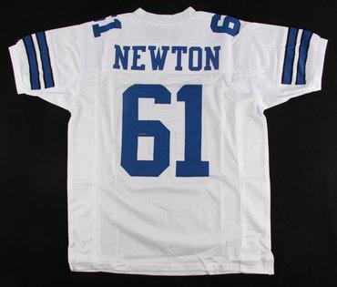 Dallas Cowboys #61 Nate Newton White Throwback Jersey