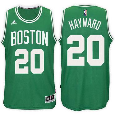 Boston Celtics #20 Gordon Hayward Road Green New Swingman Jersey