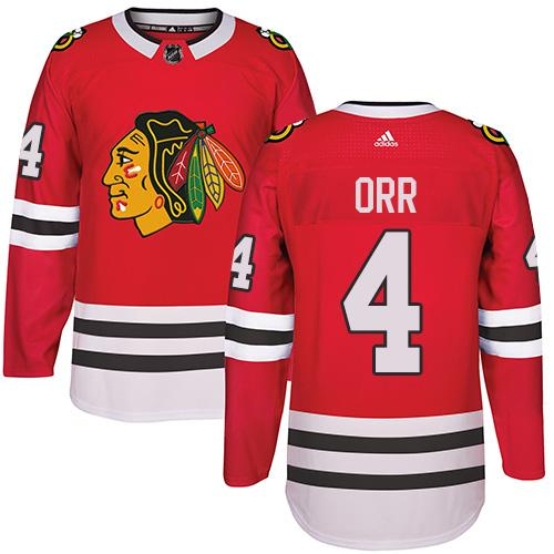 Adidas Chicago Blackhawks #4 Bobby Orr Red Home Authentic Stitched NHL Jersey