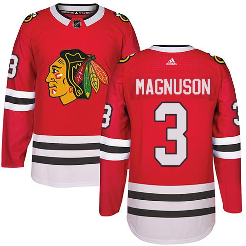 Adidas Chicago Blackhawks #3 Keith Magnuson Red Home Authentic Stitched NHL Jersey