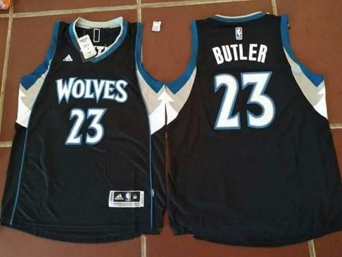 Men's Minnesota Timberwolves #23 Jimmy Butler Black Stitched NBA adidas Revolution 30 Swingman Jersey