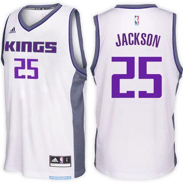 Sacramento Kings #25 Justin Jackson Home White New Swingman Jersey