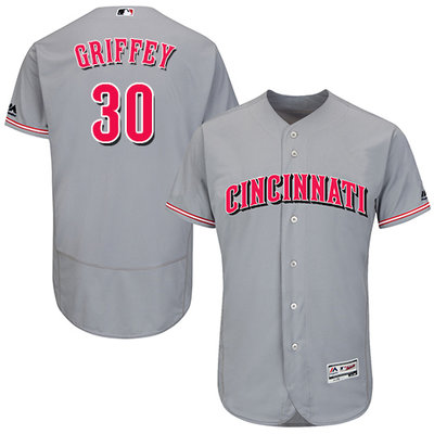 Men's Cincinnati Reds #30 Ken Griffey Grey Flexbase Authentic Collection Stitched MLB Jersey