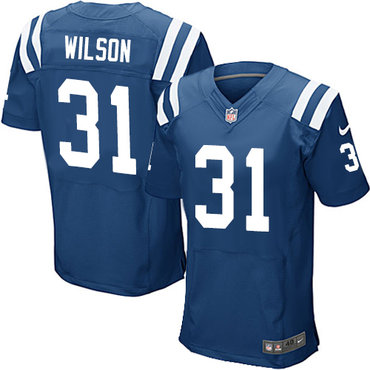 Nike Indianapolis Colts #31 Quincy Wilson Royal Blue Team Color Men's Stitched NFL Elite Jersey