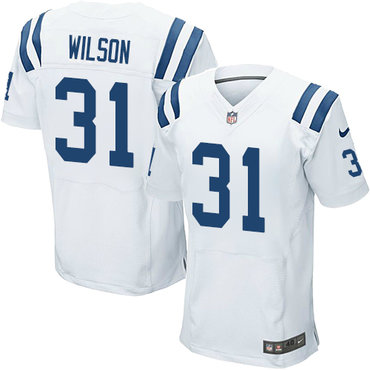 Nike Indianapolis Colts #31 Quincy Wilson White Men's Stitched NFL Elite Jersey