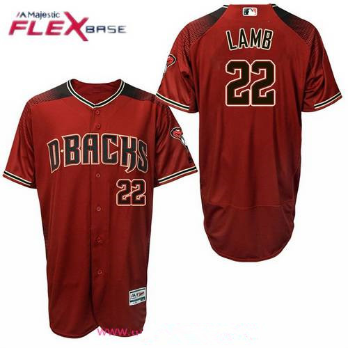 Men's Arizona Diamondbacks #22 Jake Lamb Red Alternate Stitched MLB Majestic Flex Base Jersey