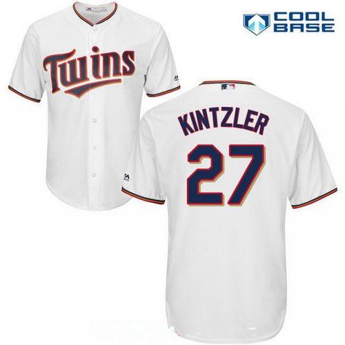 b565b1301 Men s Minnesota Twins  27 Brandon Kintzler White Stitched MLB Majestic Cool  Base Jersey