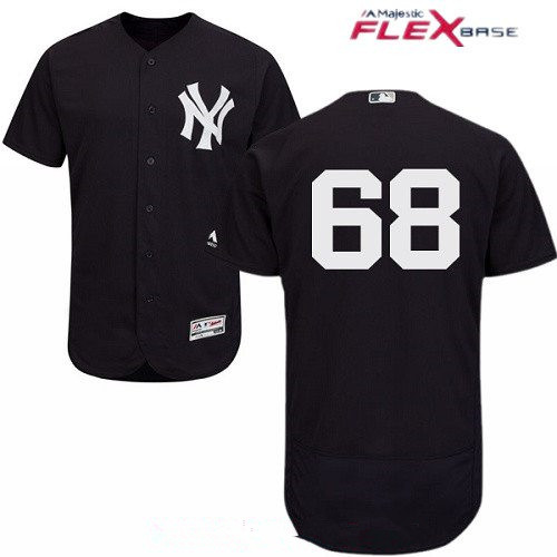Men's New York Yankees #68 Dellin Betances Navy Blue Alternate Stitched MLB Majestic Flex Base Jersey