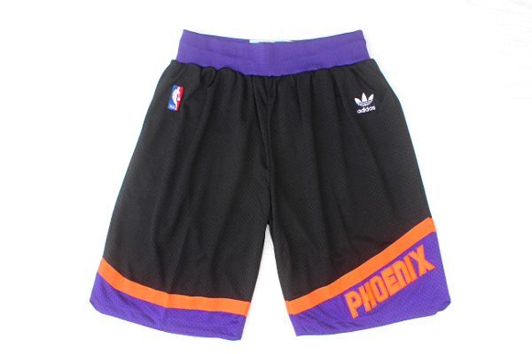 Men's Phoenix Suns adidas Black Throwback Short