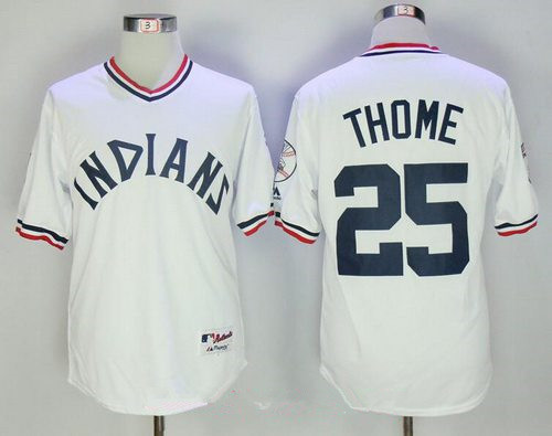 84f5ef17d22 ... 13 Omar Vizquel Retired Red Pullover Cooperstown Collection Stitched  MLB Majestic Cool Mens Cleveland Indians 25 Jim Thome White 1973 Turn Back  the ...