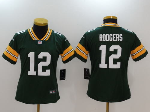 ... Jersey - 12 C Patch Nike NFL Womens Green Bay Packers 12 Aaron Rodgers  Green 2017 Vapor Untouchable Stitched NFL Nike Limited ... 5ef574de0