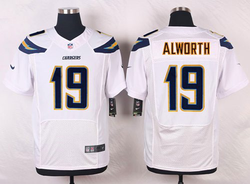 Nike San Diego Chargers #19 Lance Alworth White Men's Stitched NFL New Elite Jersey