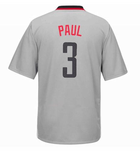 Men's Houston Rockets #3 Chris Paul New Gray Short-Sleeved Stitched NBA Adidas Revolution 30 Swingman Jersey