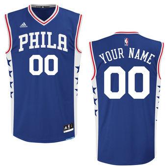 Men's Philadelphia 76ers adidas Royal Custom Replica Road Jersey