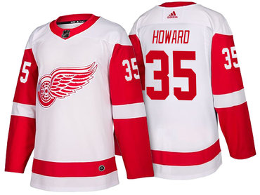 Men's Detroit Red Wings #35 Jimmy Howard White 2017-2018 adidas Hockey Stitched NHL Jersey