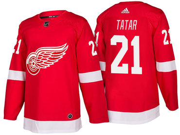 ... T-shirt Mens Detroit Red Wings 21 Tomas Tatar Red Home 2017-2018 adidas  Hockey Stitched Red Wings 35 Jimmy Howard ... 2f50b23d2