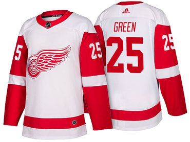 Men's Detroit Red Wings #25 Mike Green White 2017-2018 adidas Hockey Stitched NHL Jersey