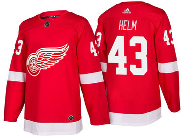 Men's Detroit Red Wings #43 Darren Helm Red Home 2017-2018 adidas Hockey Stitched NHL Jersey