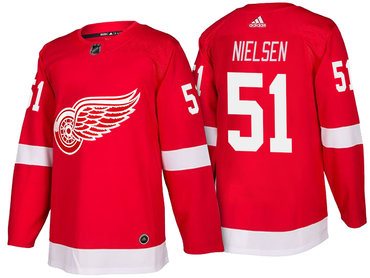 Men's Detroit Red Wings #51 Frans Nielsen Red Home 2017-2018 adidas Hockey Stitched NHL Jersey