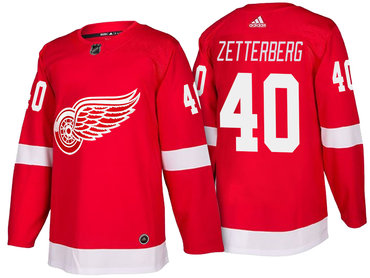 Men's Detroit Red Wings #40 Henrik Zetterberg Red Home 2017-2018 adidas Hockey Stitched NHL Jersey