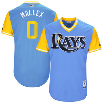 Men's Tampa Bay Rays Mallex Smith Mallex Majestic Light Blue 2017 Players Weekend Authentic Jersey