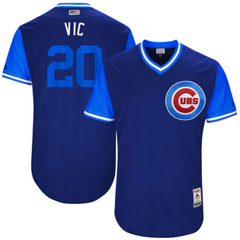 Men's Chicago Cubs Victor Caratini Vic Majestic Royal 2017 Players Weekend Authentic Jersey