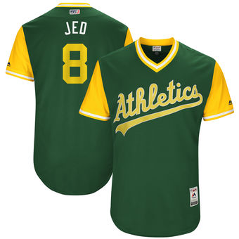 aa0024826 ... Stitched MLB Mitchell Mens Oakland Athletics Jed Lowrie Jed Majestic  Green 2017 Players Weekend Authentic Jersey Athletics 24 Rickey Henderson  ...