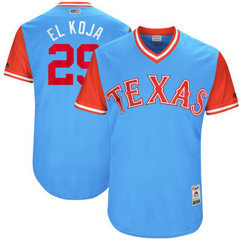Men's Texas Rangers Adrian Beltre El Koja Majestic Light Blue 2017 Players Weekend Authentic Jersey