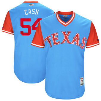 Men's Texas Rangers Andrew Cashner Cash Majestic Light Blue 2017 Players Weekend Authentic Jersey