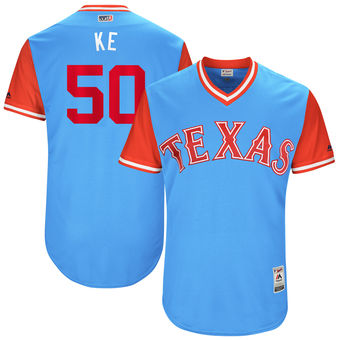 Men's Texas Rangers Keone Kela Ke Majestic Light Blue 2017 Players Weekend Authentic Jersey