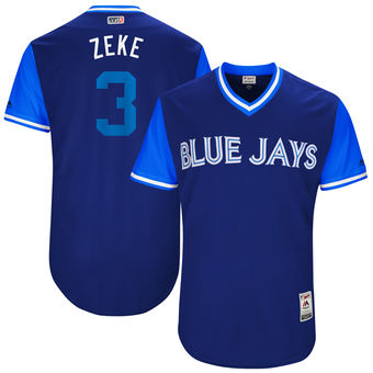 Men's Toronto Blue Jays Ezequiel Carrera Zeke Majestic Royal 2017 Players Weekend Authentic Jersey