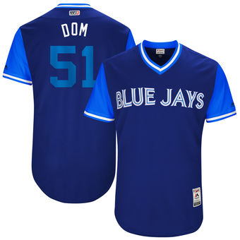 Men's Toronto Blue Jays Dominic Leone Dom Majestic Royal 2017 Players Weekend Authentic Jersey
