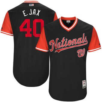 Men's Washington Nationals Edwin Jackson E. Jax Majestic Navy 2017 Players Weekend Authentic Jersey