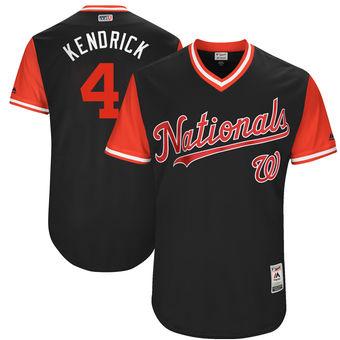 Men's Washington Nationals Howie Kendrick Kendrick Majestic Navy 2017 Players Weekend Authentic Jersey