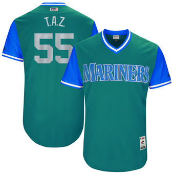 Men's Seattle Mariners Tony Zych T.A.Z. Majestic Aqua 2017 Players Weekend Authentic Jersey
