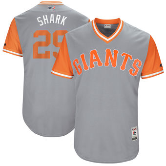 Men's San Francisco Giants Jeff Samardzija Shark Majestic Gray 2017 Players Weekend Authentic Jersey