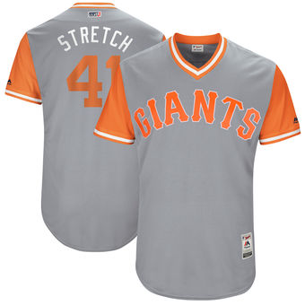 Men's San Francisco Giants Mark Melancon Stretch Majestic Gray 2017 Players Weekend Authentic Jersey