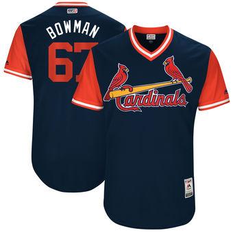 Men's St. Louis Cardinals Matt Bowman Bowman Majestic Navy 2017 Players Weekend Authentic Jersey