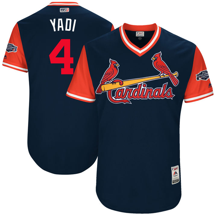Men's St. Louis Cardinals Yadier Molina Yadi Majestic Navy 2017 Players Weekend Authentic Jersey