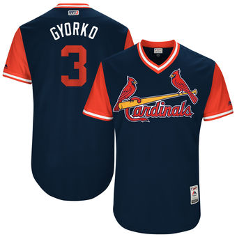 Men's St. Louis Cardinals Jedd Gyorko Gyorko Majestic Navy 2017 Players Weekend Authentic Jersey