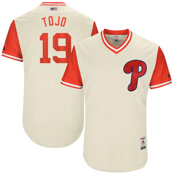 Men's Philadelphia Phillies Tommy Joseph Tojo Majestic Tan 2017 Players Weekend Authentic Jersey