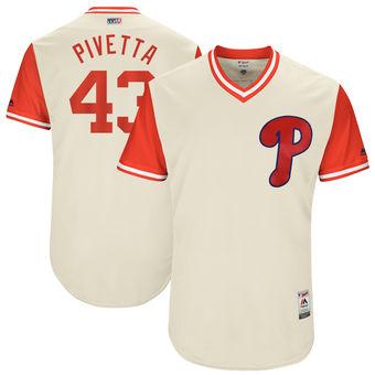 Men's Philadelphia Phillies Nick Pivetta Pivetta Majestic Tan 2017 Players Weekend Authentic Jersey