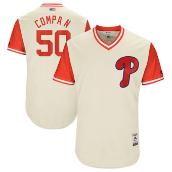 Men's Philadelphia Phillies Hector Neris Compa N Majestic Tan 2017 Players Weekend Authentic Jersey
