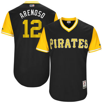 Men's Pittsburgh Pirates Juan Nicasio Arenoso Majestic Black 2017 Players Weekend Authentic Jersey