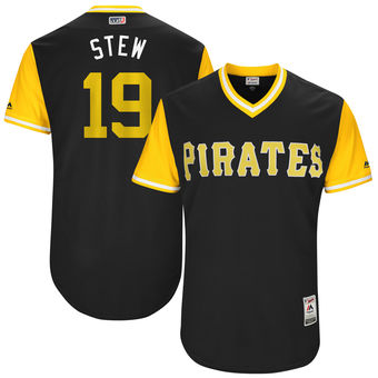 Men's Pittsburgh Pirates Chris Stewart Stew Majestic Black 2017 Players Weekend Authentic Jersey